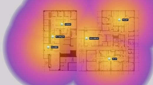 WiFi coverage floor plan