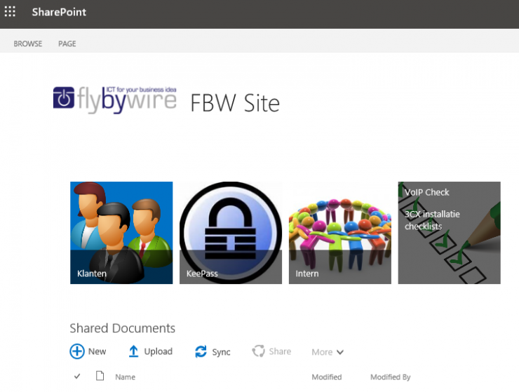 Office 365 home page Fly By Wire
